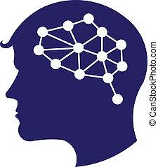 Konzept des Netzwerkhirnlogos.