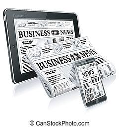 Konzept - digitale Nachrichten