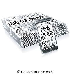 Konzept - digitale Nachrichten.