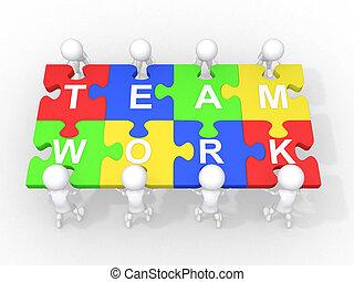 Konzept für Teamwork, Führung, Zusammenarbeit,
