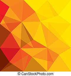 Konzept vektorischer Hintergrund von orangen, roten geometrischen Formen.