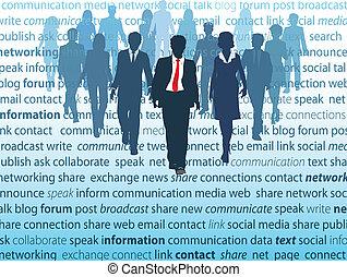 Konzepte der sozialen Netzwerke der Unternehmer