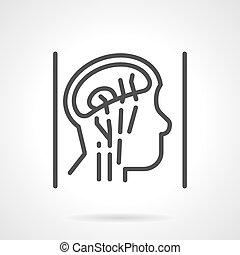 Kopf-Anatomie einfache Linie Vektor Icon