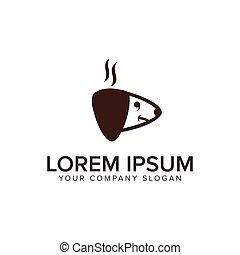 kopf, begriff, hund, design, logo, template.