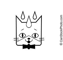 Kopf eines Katzenvektor-Icons.