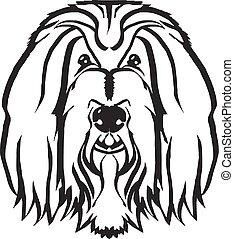 kopf, hund, vektor, schwarz, logo, ikone