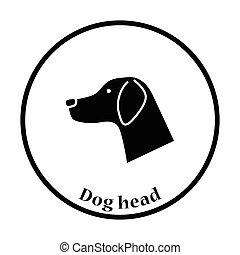 kopf, hunde ikone