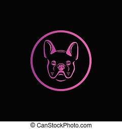 kopf, kreativ, hund, bunte, logo, design, kopf