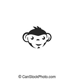 kopf, logo, affe