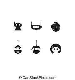 kopf, logo, roboter