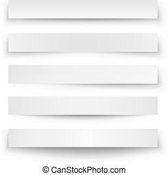 Kopf-Platz-Banner-Schatten-Schalt