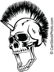 Kopf-Punkschädel