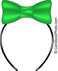 Kopfband mit Bogen in grünem Design.