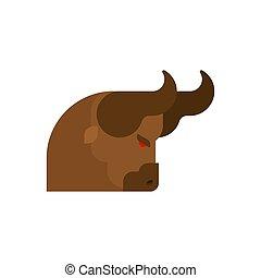 Kopfbullen, wütend isoliert. Stammes-Stier-Vektor