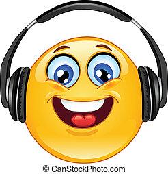 Kopfhörer-Emoticon