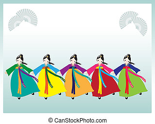 Koreanische Tänzer
