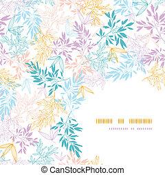 Kornfarbene Pastellzweige, nahtloser Hintergrund