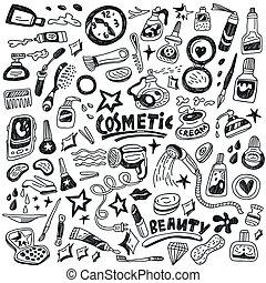 Kosmetik-Doodles