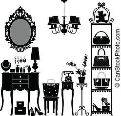 Kosmetik-Möbelzimmer
