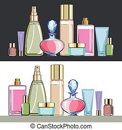 Kosmetik-Schönheitspflege eingestellt.