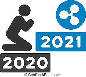 kräuselung, wohnung, beten, vektor, 2021, ikone, mann