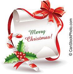 krückstock, karamell, grüßen karte, weihnachten