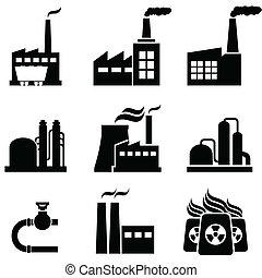 Kraftwerke, Fabriken und Industriegebäude