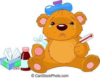 krank, teddybär