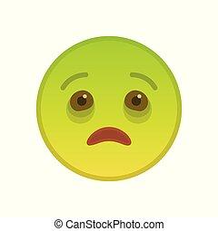 Kranker Emoticon isoliert auf weißem Hintergrund