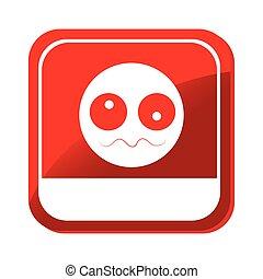 Krankes Gesichts-Emoticon-Ikone.