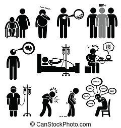 Krankheiten und Krankheiten.