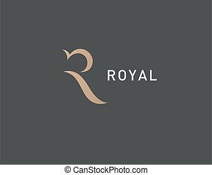 kreativ, r, firma, abstrakt, königlich, logo, typographie, ikone, brief