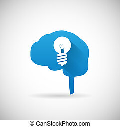 Kreative Idee Symbol Gehirn und hellbulb Silhouette Icon Design Vorlage Vektor Illustration.