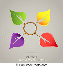 Kreative Natur emblem Vektor Icon. Farbiges Design