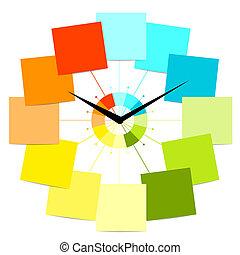 Kreative Uhrendesign mit Aufklebern für deinen Text