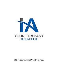 Kreativer Buchstabe I und ein Logo-Design.