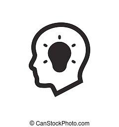 Kreatives Denk-Icon.