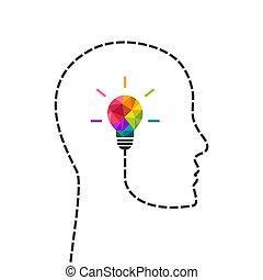 Kreatives Denken und Kopfkonzept.