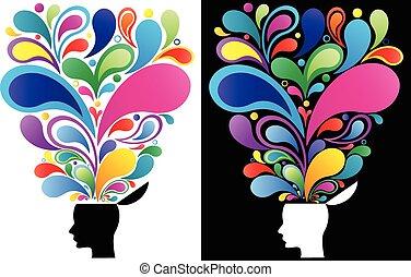 Kreatives Gedankenkonzept