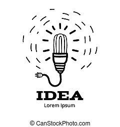 Kreatives Glühbirnenkonzept