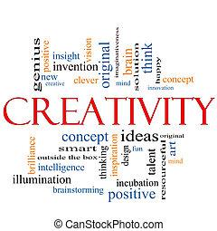 Kreativitätswort Cloud-Konzept