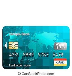 Kreditkarten, Frontansicht.