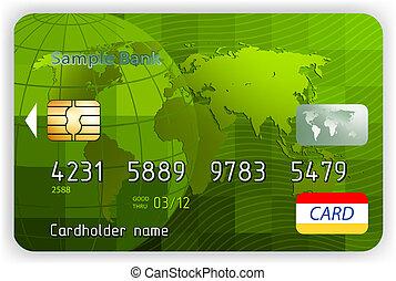 Kreditkarten, Frontsicht (keine Transparenz). EPS 8