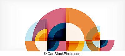 Kreis abstrakter Hintergrund, geometrische moderne Design-Vorlage.