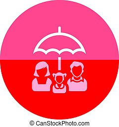 Kreis-Ikone - Familienschirm