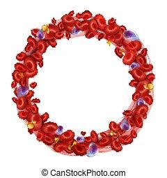 Kreislauf der Blutzellen. Vector Illustration isoliert auf weißem Hintergrund.