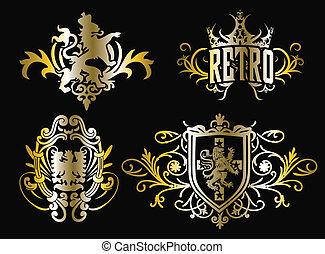 Krest modische Schilddesign
