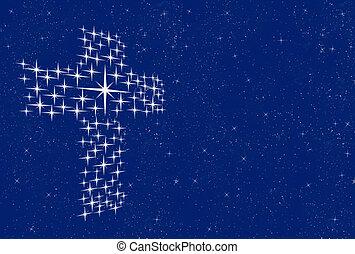 Kreuz in den Sternen
