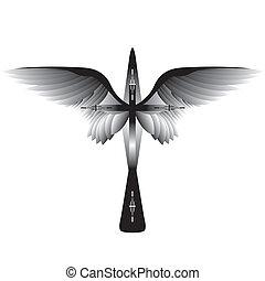 Kreuze mit Flügeln