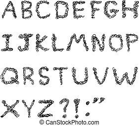 Kribbelndes Alphabet